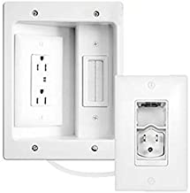 $69 » Legrand - On-Q CPT306W-V1 in-Wall TV Power & Cable Management Kit, Hides Power & AV Cables for Clean, Clutter-Free Installation