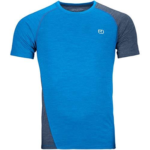 ORTOVOX Herren 120 Cool Tec Fast Upward T-Shirt, Safety Blue Blend, M