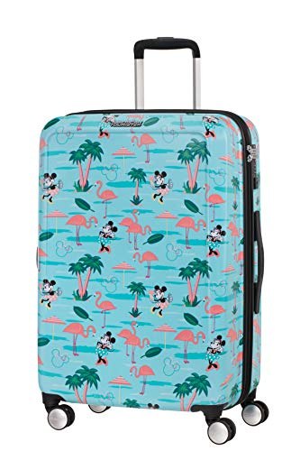 American Tourister Funlight Disney Spinner Valigia M, 67 cm, 66 L, Multicolore (Minnie Miami Beach)