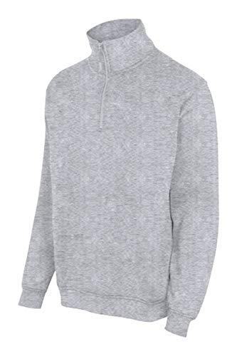 Velilla 105702 48 – grijs gemêleerd M – sweatshirt met halflange ritssluiting, maat M