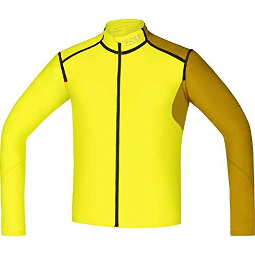 Gore Running Wear Fusion Windstopper Soft Shell Zip-Off Camiseta, Hombre, Amarillo/Dorado (Cadmium Yellow/Golden Oak), M