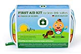 Yellodoor Baby First Aid Kit 65 Pieces of Essential Medical Grade Supplies for Kids, Family Home, Car and Travel, Includes Humpty Dumpty Finger Puppet Distractor and Reward Stickers.100% Vegan