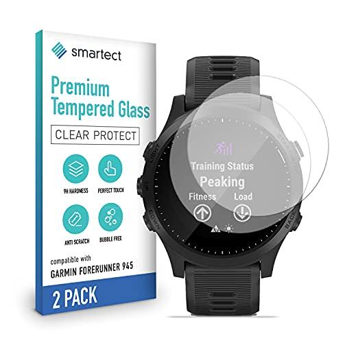 smartect Cristal Templado para Móvil Garmin Forerunner 945 [2 Unidades] - Protector de pantalla 9H - Diseño ultrafino - Instalación sin burbujas - Anti-huella