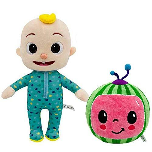 Cocomelon Plush JJ Tom Sister Boy,Cartoon Cocomelon JJ Watermelon Plush Boy Soft Stuffed Doll for Children Christmas Birthday Gift (C)