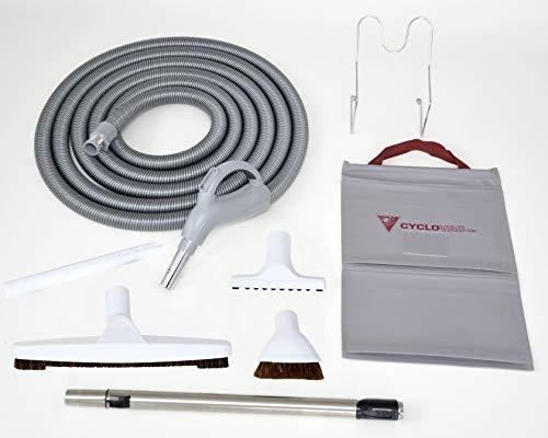 Genialvac Komfort Schlauch-Set Ergonomic für Zentralstaubsauger, für die meisten Saugdosen verwendbar (Länge 7,6m)
