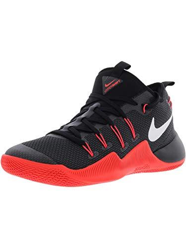 Nike Mens Hypershift Basketball Sneaker (Black/White-Bright Crimson, 11 M US)