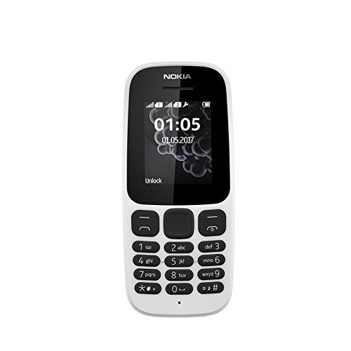 """Nokia 105 DS 1.8"""" 73g Bianco Caratteristica del telefono [Germania]"""
