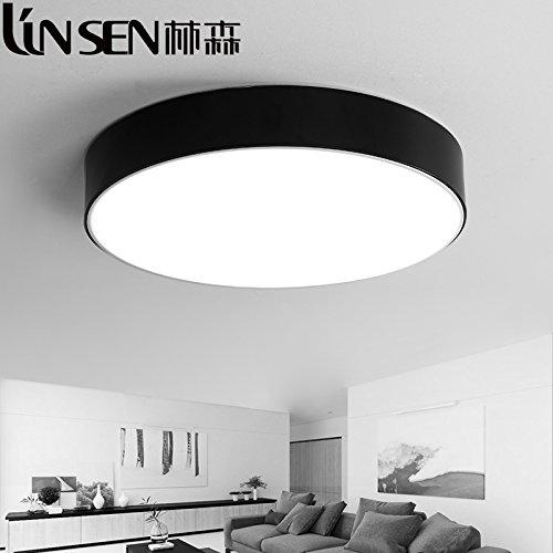 Idee di illuminazione camera dei bambini per la camera da letto semplice soffitto soggiorno corridoio moderni rotondo il corridoio bagno illuminazione, diametro 78cm-bianco - infinito oscuramento