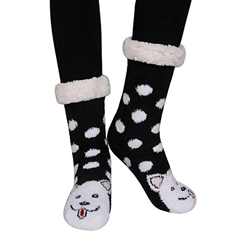 Sokken voor dames, super zacht, winter, warm en schattig, 40 cm, Hond