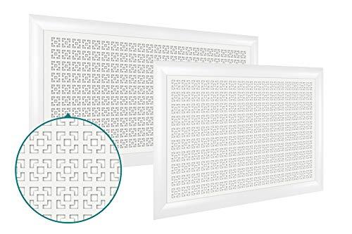 Heizkörperverkleidung   hitzebeständige MDF Platte   Heizung   Abdeckung   modern   Lüftungsgitter   verschiedene Größen   90 x 60 cm   Damasco