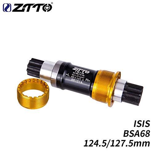 Elegstunning Bike Isis Tretlager 124,5 mm 127,5 mm BSA68 BB für kleines Fahrrad Einheitsgröße BB101A 124,5 millimetri