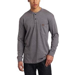 Wrangler RIGGS Workwear Men's Long Sleeve Henley Shirt