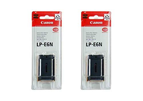 2 Pack LP-E6N Battery for Canon EOS Digital SLR 60D, 70D, 80D, 5DMKII, MKIII, Mark IV, 5DS 5DS R, 6D, 6DMKII, 7D, 7DMKII, EOS R