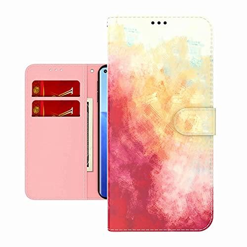 TYWZ Bunt Bemalt PU Leder Hülle für Samsung Galaxy S20 Ultra,Aquarell Entwurf Flip Schutzhülle Brieftasche Bookstyle Tasche Case Magnet Kartenfach-Rosa