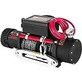 VEVOR Cabestrante Eléctrico 6123,5 kg Cabrestante Eléctrico 12 V de Cuerda de Sintética Resistente de 27 m Cabrestante Eléctrico Polipastos Eléctricos con Control Remoto Inalámbrico y Motor 4,8 kW