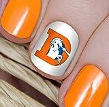 Denver Broncos Football Waterslide Nail Art Decals - Salon Quality