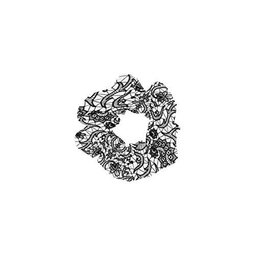 Big Scrunchies para el cabello Tendencia a la moda Estampado de encaje Lindos soportes de cola de caballo Lazos decorativos para el cabello Perfecto para cabello grueso Soporte de cola de caba