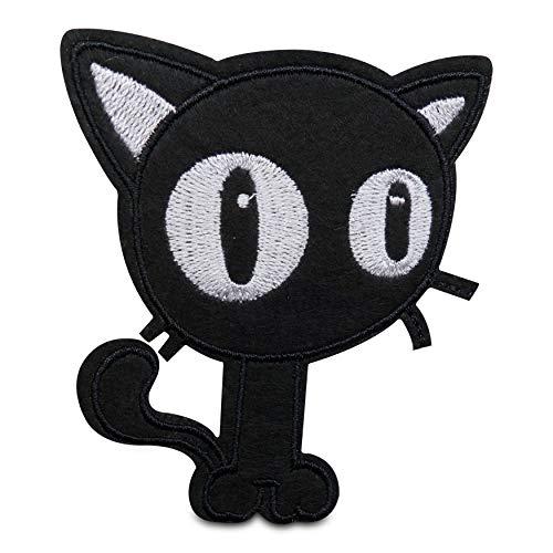 Finally Home Zwarte kat strijkplaatje patch om op te strijken | kattenpatches, opstrijkmotieven