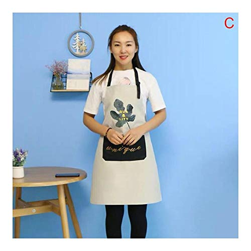 Tabliers de cuisine Nordic style tablier bavoir cuisine tablier de cuisine Femme Homme chef Waiter Café Boutique BBQ Coiffeur Tabliers Bibs Pinafore Cuisine Accessoires Tablier de Chef ( Color : C )