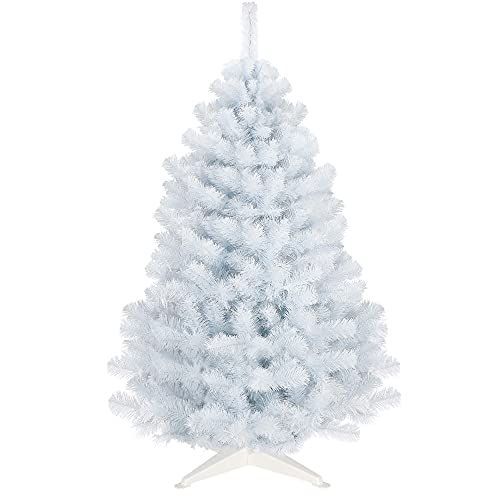 SPRINGOS Sapin de Noël artificiel de 180 cm - Blanc - Qualité supérieure - Fabriqué dans l'UE - Hauteur : 180 cm