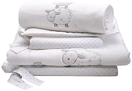 Silvercloud - Set de ropa de cama para cuna (3 pieza), diseño de ovejas