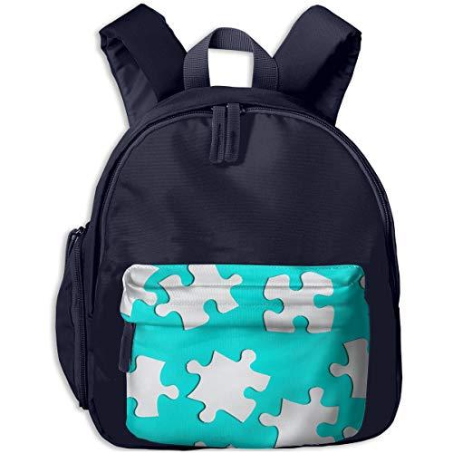 qingdaodeyangguo School 3D Printed White Cardboard Jigsaw Puzzles Houlder Backpacks Student Book Bag for Boys