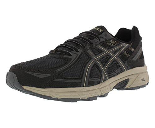 ASICS Men's Gel-Venture 6 Running Shoes Black/Dark Grey/Feather Grey 8.5 D(M) US