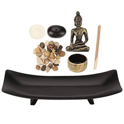 HT217 Tischplatte Buddha Zen Garden, Bronze Vintage Räuchergefäß Räuchergefäß Tischplatte, Räucherstäbchenhalter für Wohnkultur Geschenk Meditation Entspannen