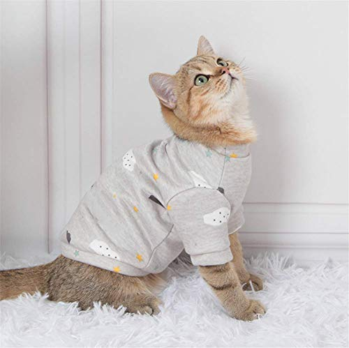 Cats Clothes- Dog Basic Coat Cute Cartoon Cotton Soft Jacket Pet Weather Clothes Outfit Outerwear for Small Dogs Cats Puppy Small Animals,Suitable for All Season