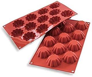 Silikomart Platinum Silicone Mini Brioche Cake Mould, 58mm, Terracotta