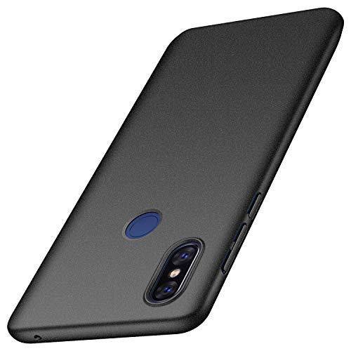 Anccer Serie Matte für Xiaomi Mi Mix 3 Hülle, Elastische Schockabsorption & Ultra Thin Design (Kies Schwarz)