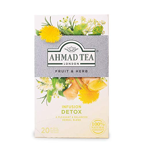 Ahmad Tea Detox Teebeutel mit Band/Tagged, Kräutertee, 40g (20 stück)