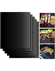 EXTSUD BBQ Griglia Tappetini Set Stuoie Barbecue Antiaderente Riutilizzabili Senza-PFOA Resistente al Calore per Griglia a Carbone Gas Weber Forno Elettrico Adatto per Carne Pesce Verdure