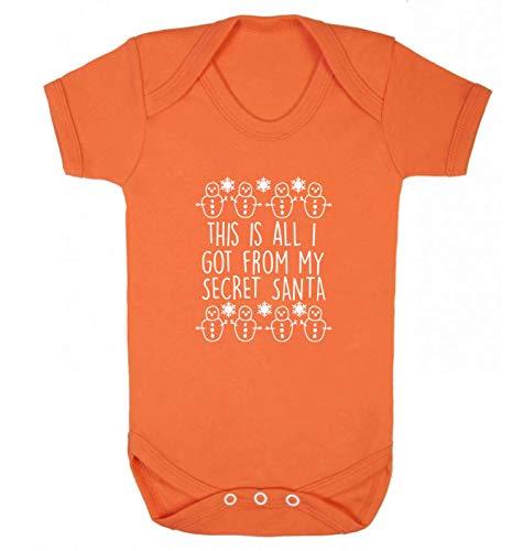 Flox Creative Gilet pour bébé Inscription This is All I Got from My Secret Santa - Orange - XS