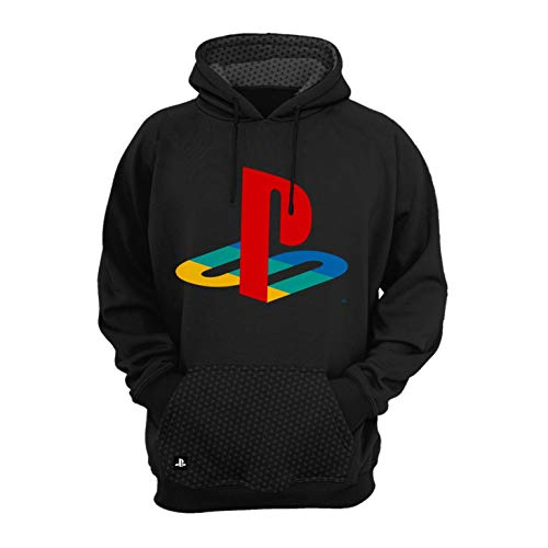 Moletom Playstation,Banana Geek,Masculino,Preto,GG