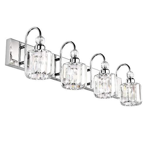 Ralbay Modern LED Crystal Bathroom Vanity Lights 4-Lights...