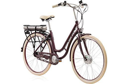 tretwerk DIREKT gute Räder Traveler Retro Merlot - Bicicleta eléctrica para mujer...