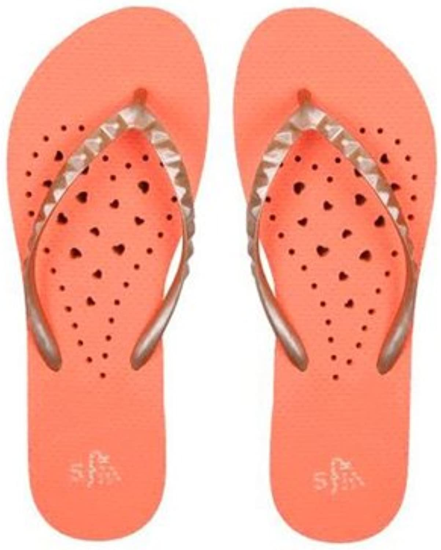 Showaflops  Women's Antimicrobial Shower Sandal  orange gold  Small (56)
