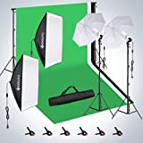 HPUSN Softbox Continuous Lighting Kit Professional Studio Photography with Max 8.5ft...