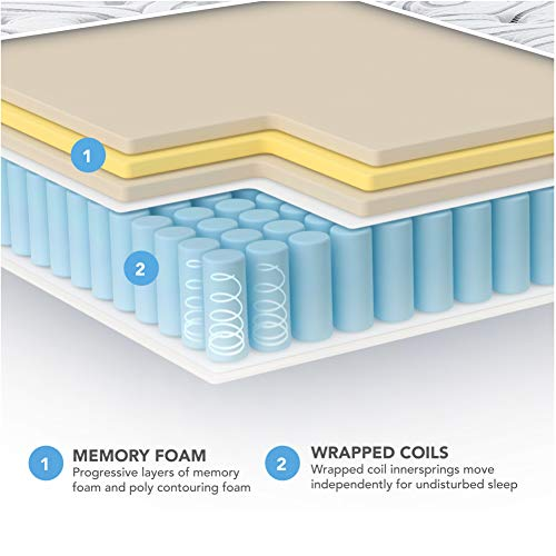 Vibe Quilted Gel Memory Foam and Innerspring Hybrid Pillow Top 12-Inch Mattress | CertiPUR-US Certified | Bed-in-a-Box King