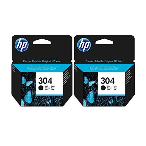 HP - 2 cartucce d'inchiostro HP originali per Deskjet 3720, colore: nero