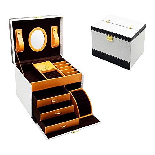 wangYUEQ Caja de joyería Organizador Caja de joyería de Alta Gama Caja de Almacenamiento de joyería de Gran Capacidad de Gran Capacidad para niñas Madre Mujeres (Color: Negro, Tamaño: 24.5x20x19.5cm)
