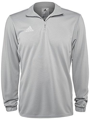 Adidas Core 18 - Felpa da allenamento da uomo, Uomo, Felpa, Core18 Training Top, Pietra/Bianco, X-Large