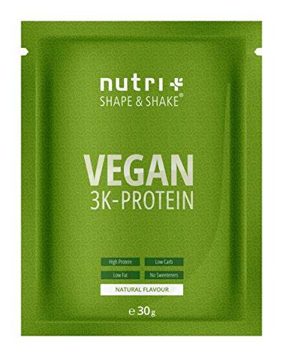 VEGANES EIWEIßPULVER Probe Neutral ohne Süßungsmittel - 85,8% Eiweiß - 30g Probiergröße - Shape & Shake Vegan - Natural Proteinpulver unflavored - auch zum Kochen und Backen