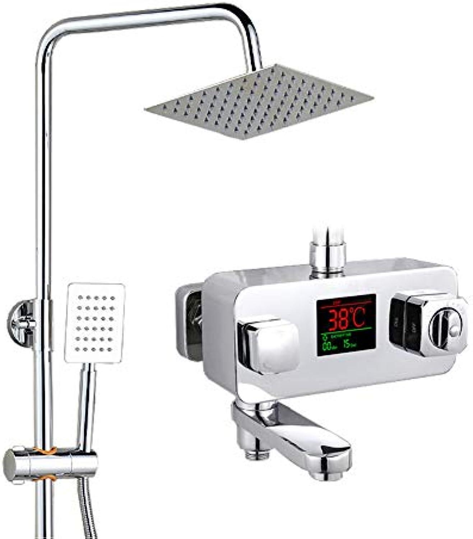 WFshower Kupfer Intelligente Temperaturregelung Konstante Temperatur Dusche Set Platz Grünckte Druckwasserhahn Set