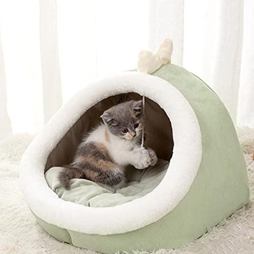 TREWQ Cojín para gatos con cojín para gatos y gatos, muy suave, parte inferior antideslizante, adecuado para perros pequeños y gatos C-S