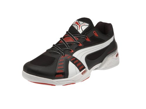 Puma Herren Accelerate VI Sportschuhe-Indoor, Schwarz (Black-White red 04), 42 EU