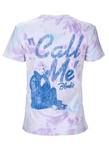 Blondie Womens Call Me Tie Dye Band Tee Music T-Shirt, S, M, L