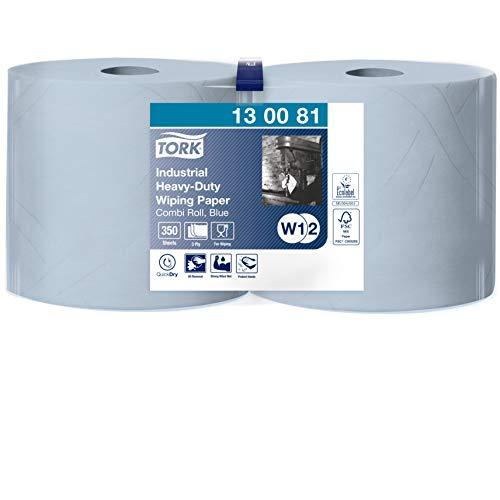 Tork 530278 Extra Starke Reinigungstücher für W4 Einzeltuch System / 1-lagige Putztücher in Blau / Premium Qualität / 2 x 350 Tücher / 35,5 x 42,8 cm (B x L)