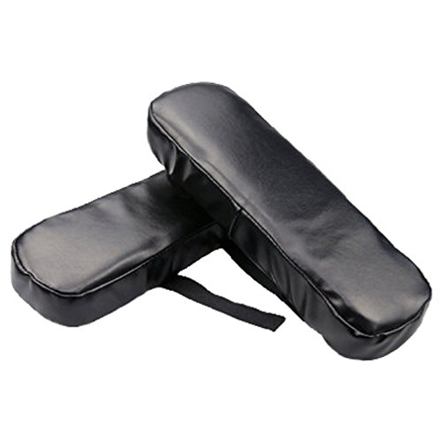 FUYUFU 2 PU Almohada de Codo para Reposabrazos Silla PU Cojín de Codo Almohadillas para Reposabrazos De La Silla (Negro)